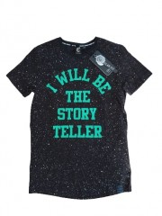 Crush denim t-shirt zwart Story