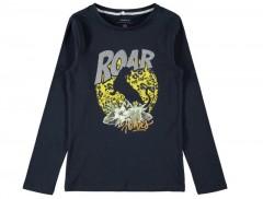 Name-it longsleeve blauw panter Roar