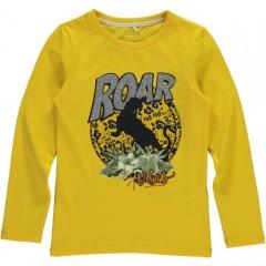 Name-it longsleeve geel panter Roar