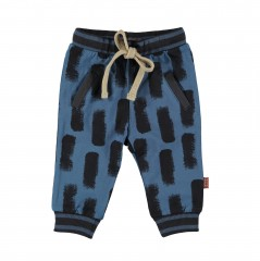 BESS broek blauw aop