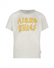 Ai&Ko t-shirt grijs melange Rules