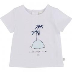 Carrément Beau t-shirt wit schildpad