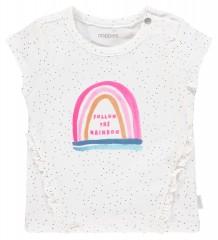 Noppies t-shirt wit Rainbow