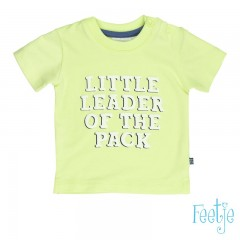 Feetje t-shirt neon geel Leader Wild and Free