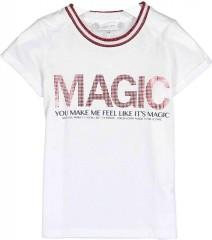 Crush denim t-shirt wit Magic