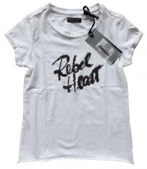 Crush denim t-shirt wit Rebel heart