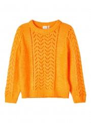 Name-it trui orange geel gebreid