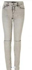 LMTD jeans grijs kneecut