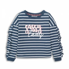 Dutchjeans sweater navy streep Lady